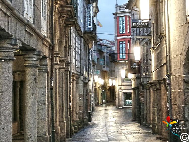 Polos soportales en Pontevedra