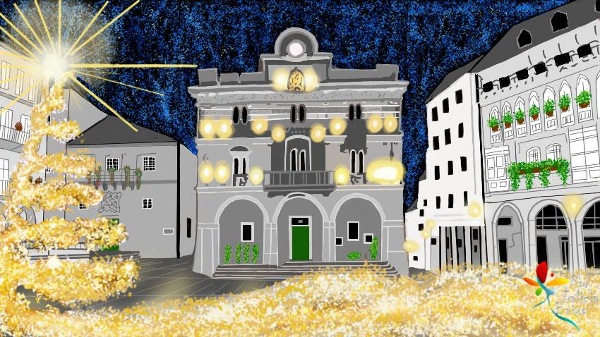 Desde a Praza Maior de Ourense… Bo Nadal!