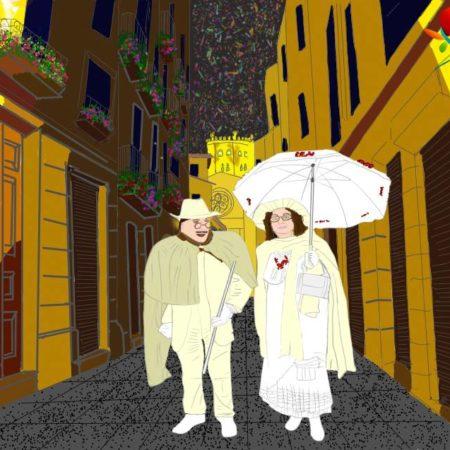"""Entroido de Ourense; dedicado a Xose Lois """"O Carrabouxo"""" e Xoana"""