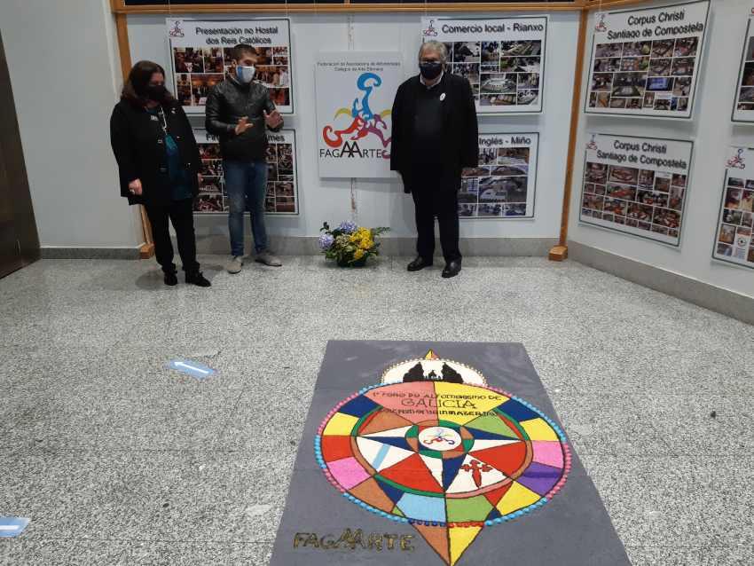 Exposición da Federación de Alfombristas Galegos en Bueu