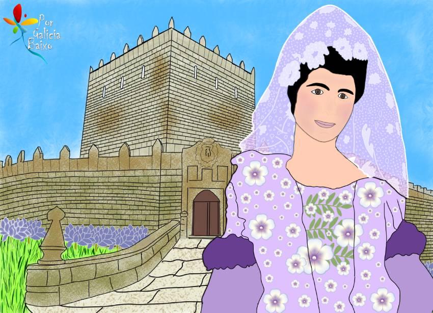 """La """"marquesa roja"""" Maria Vinyals; el Castillo de Soutomaior y su fantasma"""