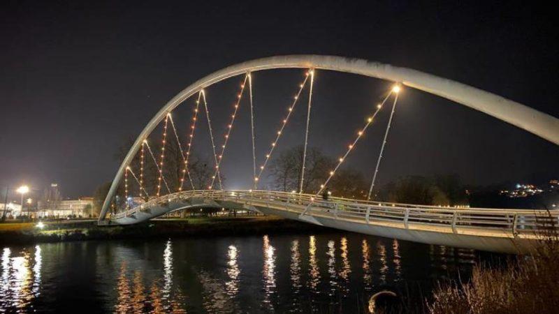 Iluminación Ornamental na Pontes das Correntes e dos Tirantes. Pontevedra