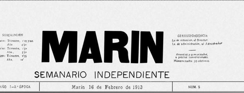 ¿Que leían en Marin un 16 de febrero de 1913?