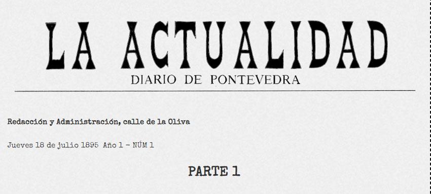 ¿Qué leían en Pontevedra un 18 de julio de 1895? 1ª Parte