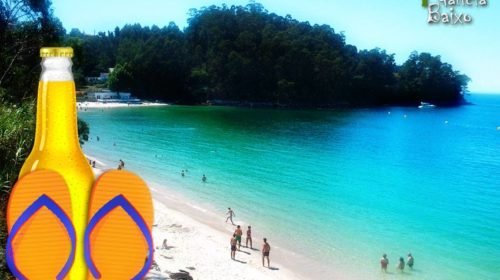 Verano en la Playa de Mogor en Marín