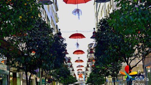 En la calle Rosalía de Castro; Pontevedra