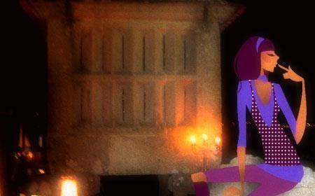 De noite nun canasto de Combarro