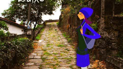 En un camino de una aldea …