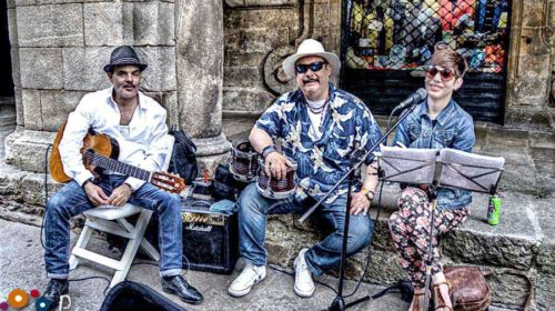 Músicos urbanos en Santiago