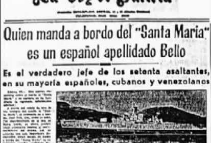 Transformación del Santa María en Santa Liberdade; el primer secuestro político de la Historia de un barco