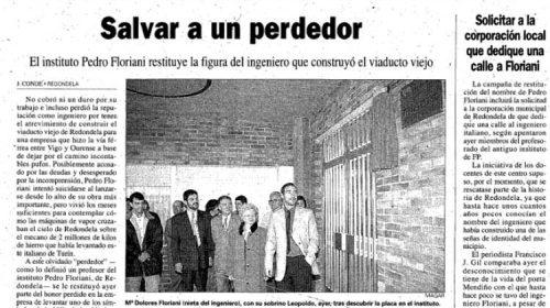 Pedro Floriani, el hombre que entregó su vida al viaducto de Redondela