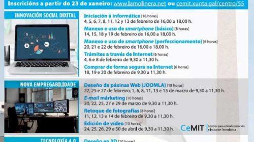 Ábrese o prazo para inscribirse en doce cursos gratuítos de informática da Aula CeMIT. Ourense