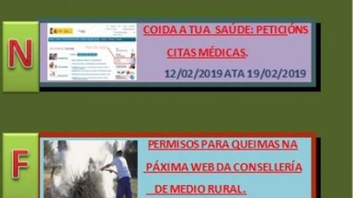 Cursos no mes de febreiro en Castrelo de Miño