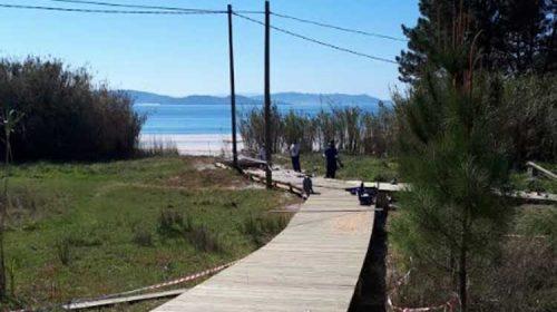 Siguen las obras del Camiño de As Salinas y la Playa de Canelas. Sanxenxo