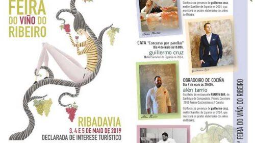 En la 56ª Feira do Viño do Ribeiro disfrutaremos de catas y  showcookings