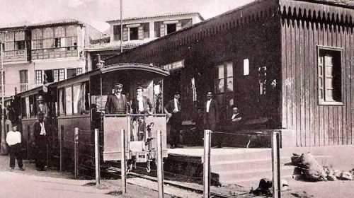 Historia del tren entre Pontevedra y Marín