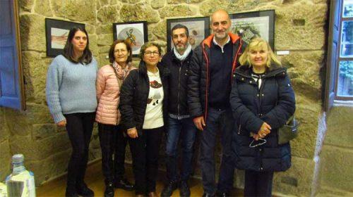 Encontro das persoas que fixeron posible a mostra 'Poesía Visual'. Celanova