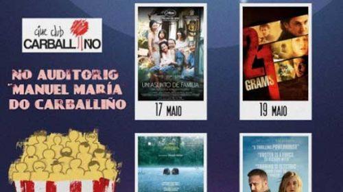 Programación restante mes de abril e mes de maio. Cineclube Carballiño