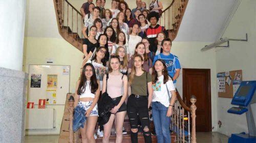 Bueu recibe ao alumnado de Erasmus+de intercambio co IES Johán Carballeira