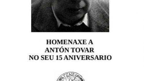 Homenaxe a Antón Tovar no seu 15 aniversario. Ourense